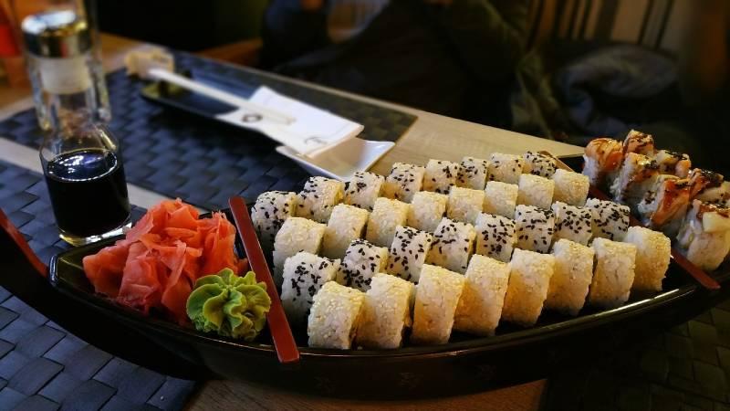 sushi et vin